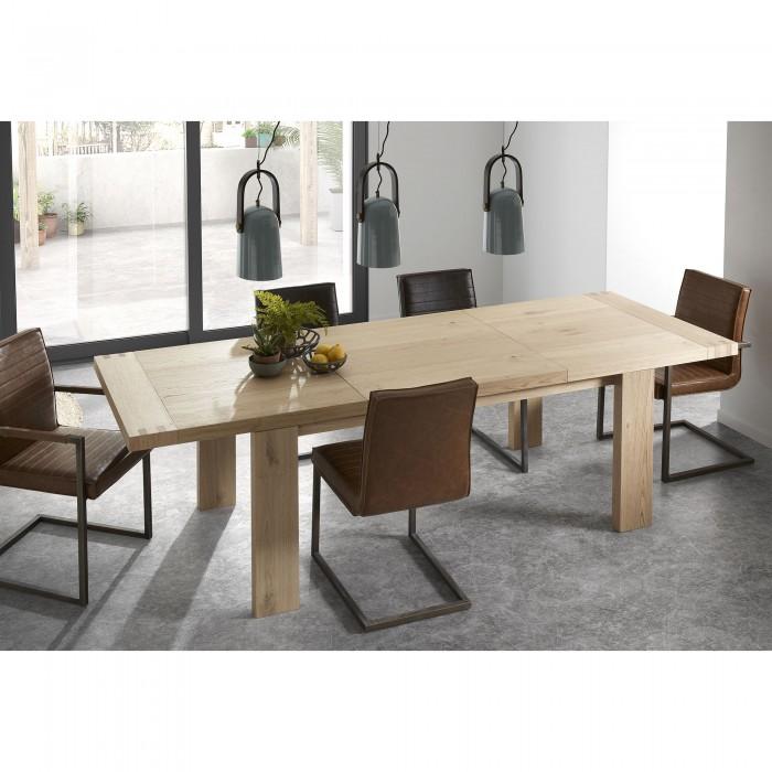 Mesa comedor extensible roble varias medidas en - Medidas mesas comedor ...