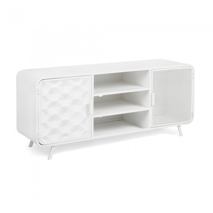 MUEBLE TV METAL BLANCO