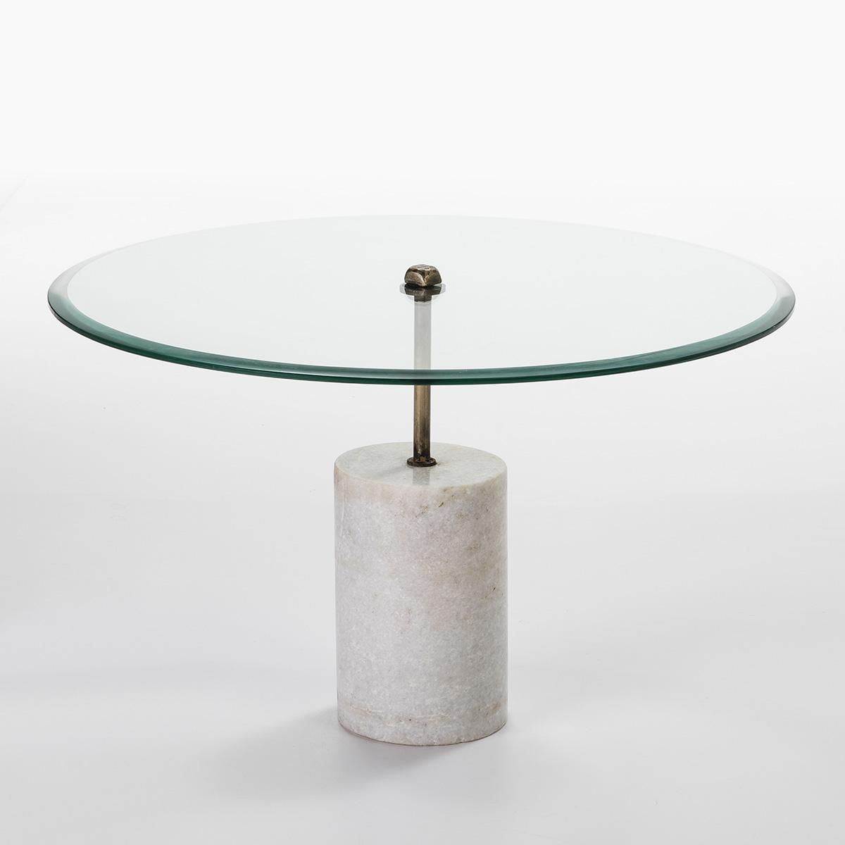 Compra mesas de centro en for Marmol blanco cristal