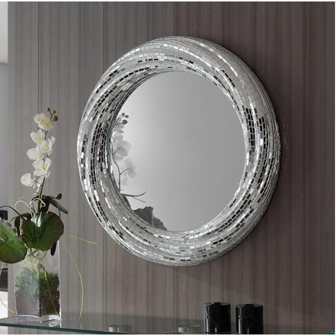 Compra espejos con mosaicos en for Espejos redondos modernos