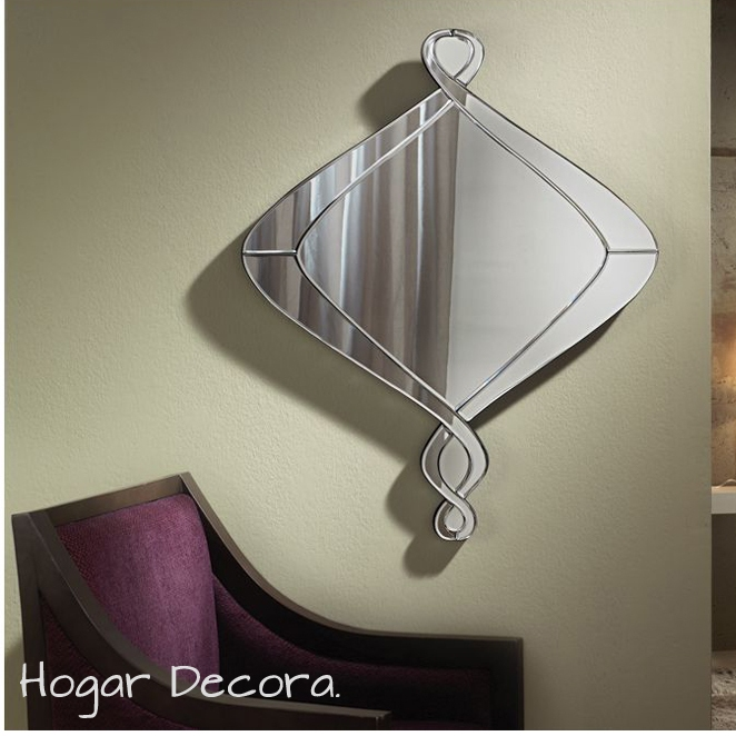 Compra espejos modernos de cristal en for Espejos plateados modernos