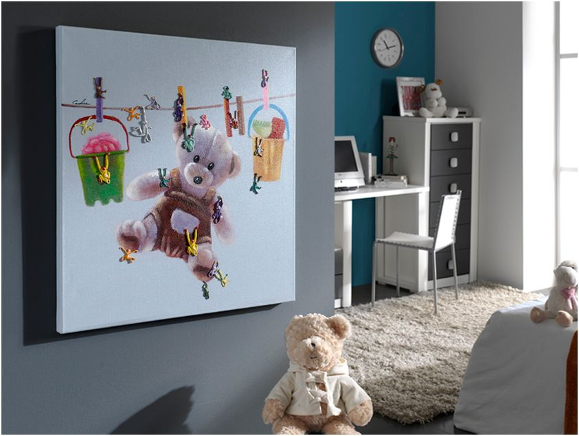 ACRILICO ·TEDDY BEAR· 80X80