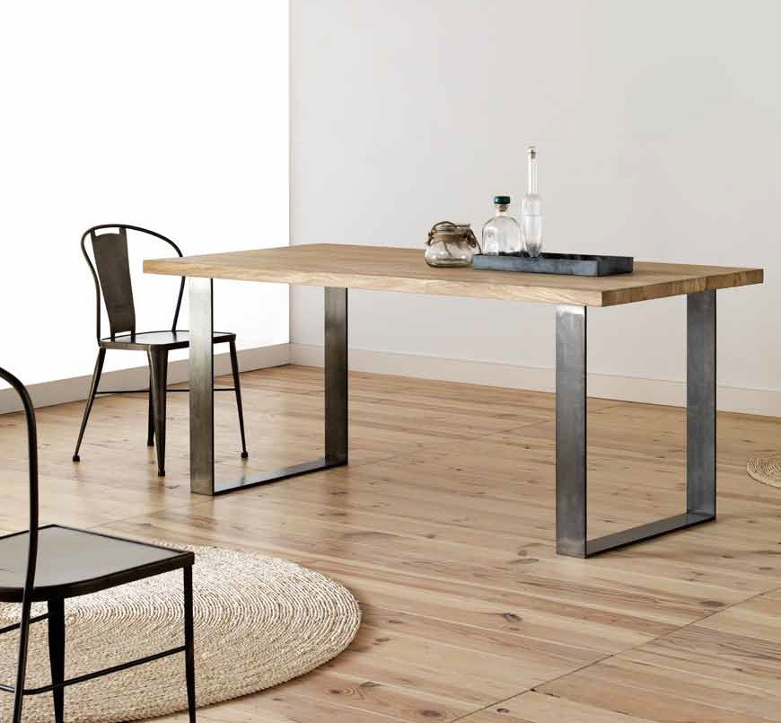 MESA OAK MACIZA DE ROBLE