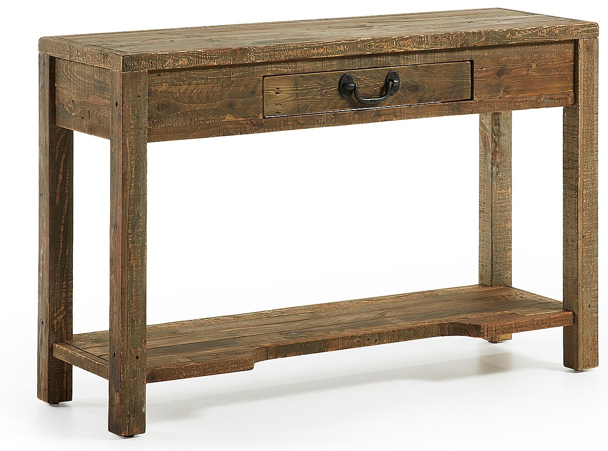 Consola madera natural en for Natura muebles