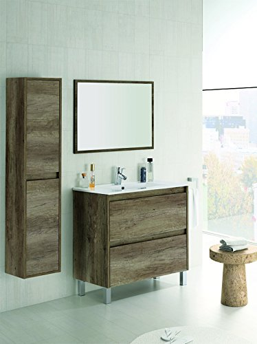 Mueble lavabo ceramica espejo lavabo armario en for Armario lavabo barato