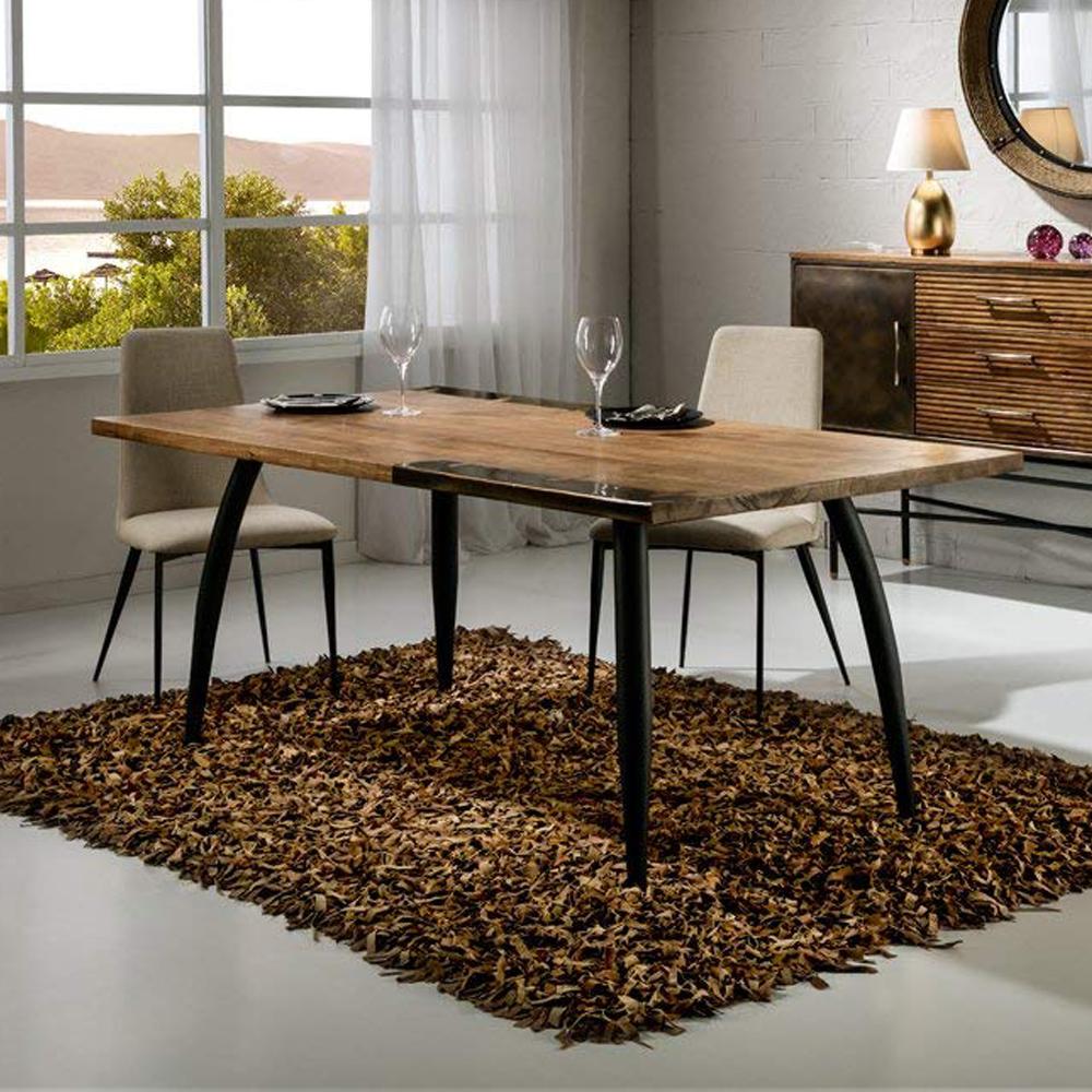 Mesa de comedor estilo industrial varias medidas en for Mesa de comedor de estilo industrial