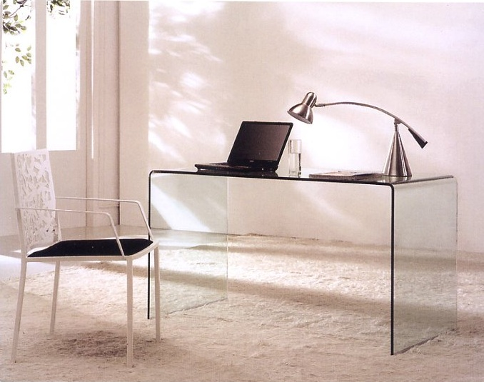 Mesa de despacho temple en - Mesas estudio cristal ...