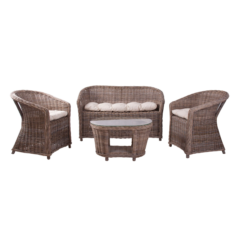 Set de 4 muebles jardin cool en for Set muebles jardin baratos