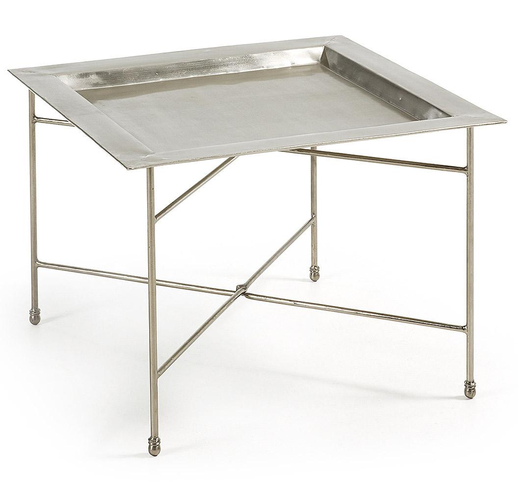 Mesa auxiliar tray de metal en for Mesas extraibles salon